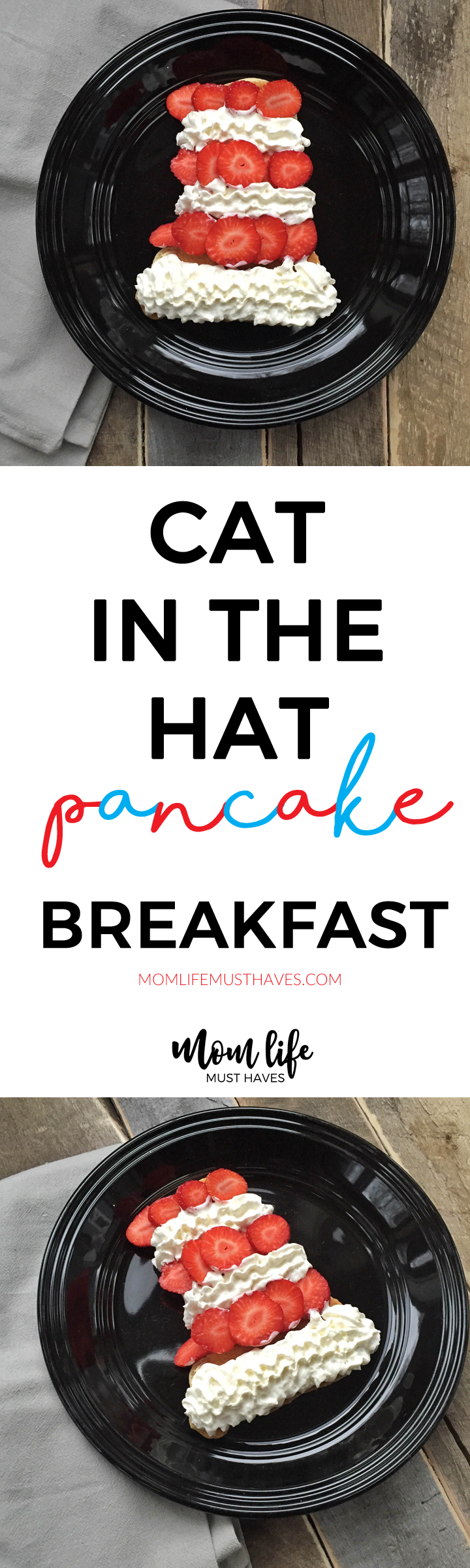 Dr. Seuss cat in the hat pancakes @ momlifemusthaves.com