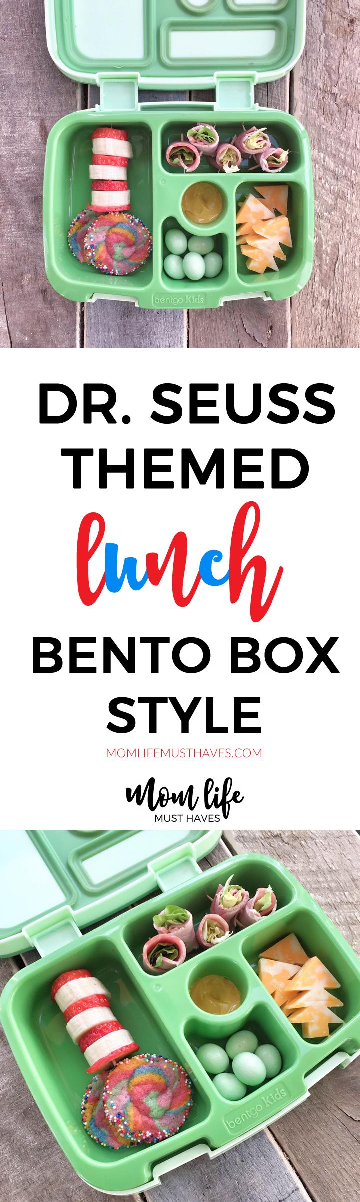 Dr. Seuss bento box lunch for kids! momlifemusthaves.com