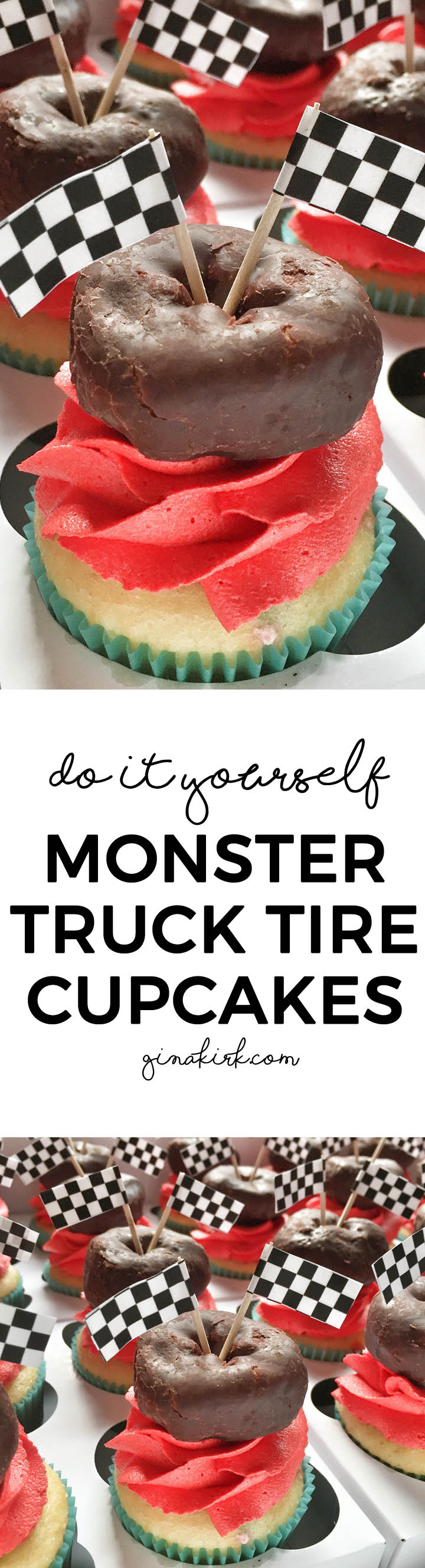 DIY monster truck tire cupcakes, for an easy DIY birthday party for kids! momlifemusthaves.com