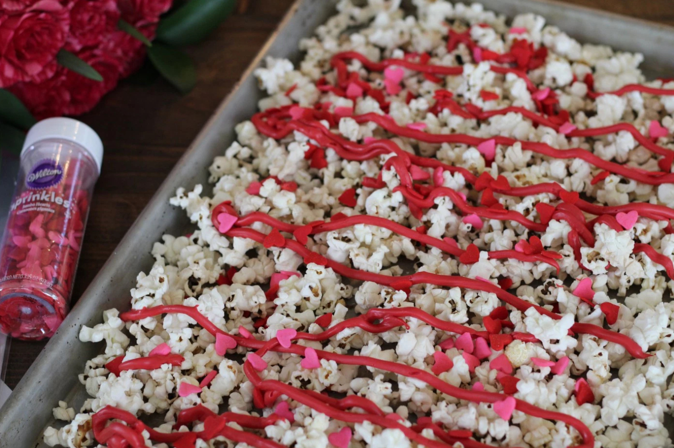 Valentine's Day popcorn for kids, snacks for kids momlifemusthaves.com