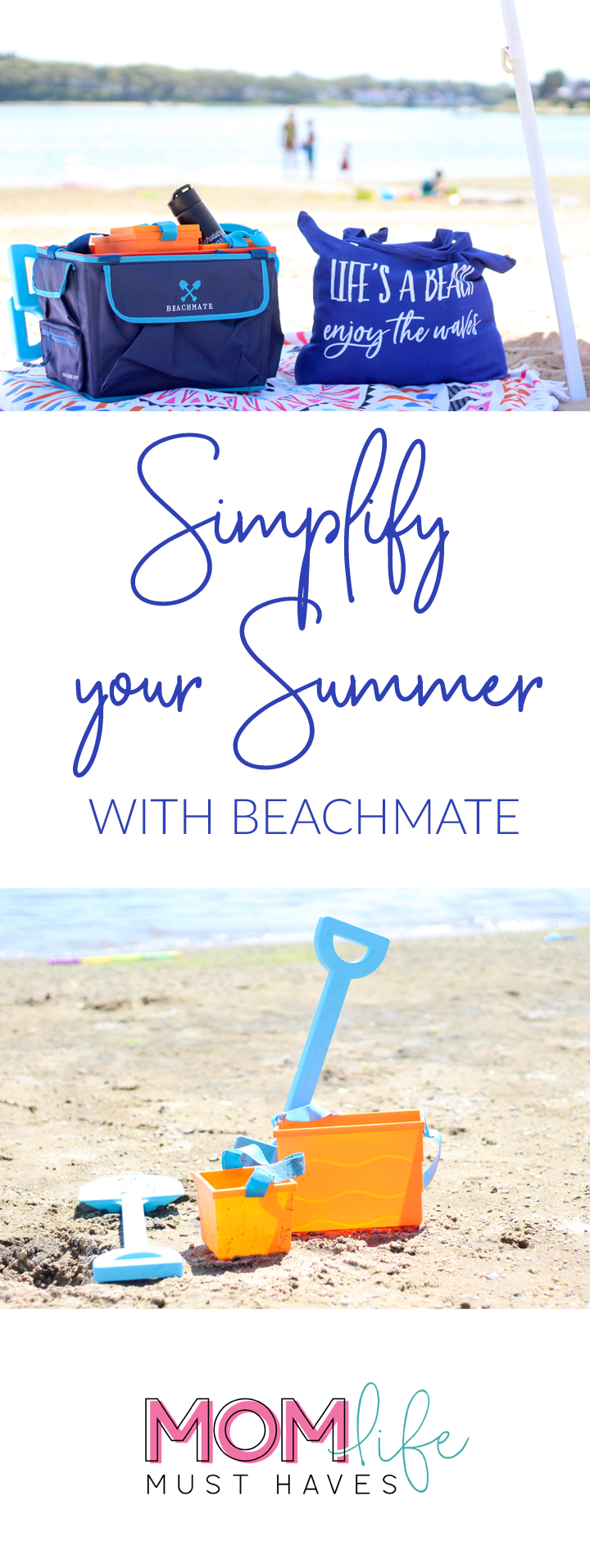 Simplify your summer with beachmate and mom life must haves || More summer fun at momlifemusthaves.com