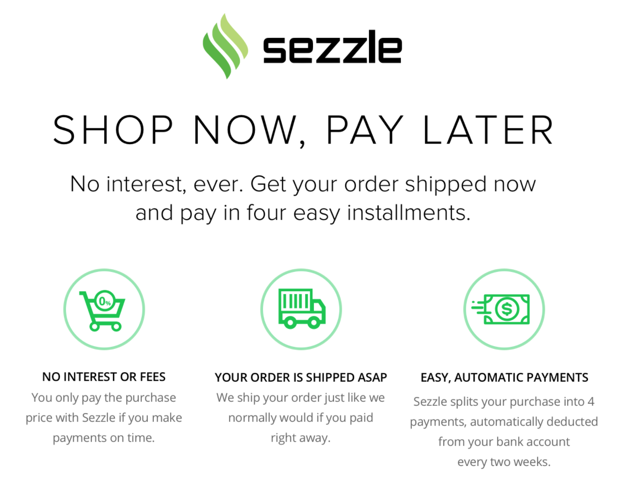 Shop Now + Pay Later with Sezzle @ Mom Life Must Haves.