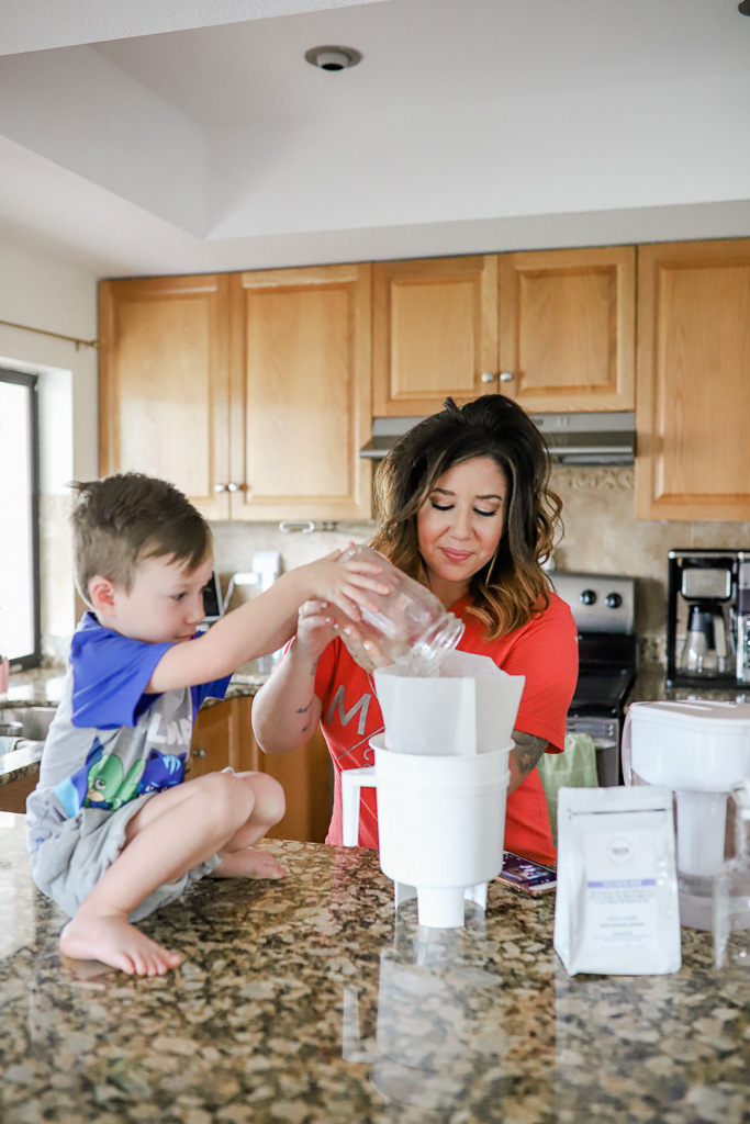 How to Make Cold Brew Coffee at Home using the Toddy System - featuring Tampa's lifestyle and mom blogger, Crazy Life with Littles